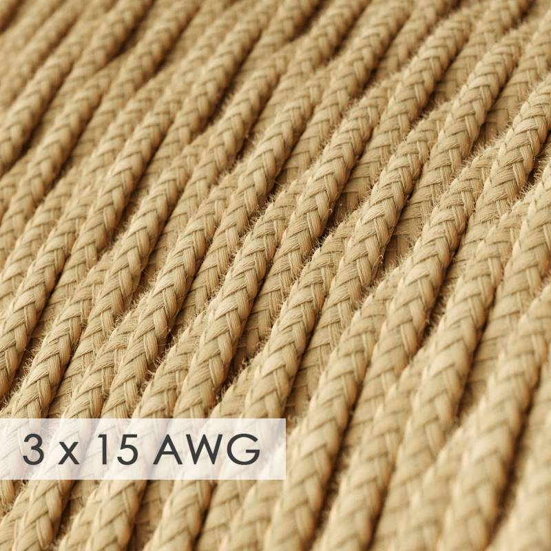 Extension Cord - Twisted Jute TN06 - 15/3 AWG
