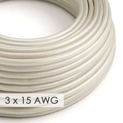 Extension Cord - Round Ivory Rayon RM00 - 15/3 AWG