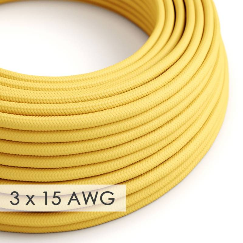 Extension Cord - Round Yellow Rayon RM10 - 15/3 AWG