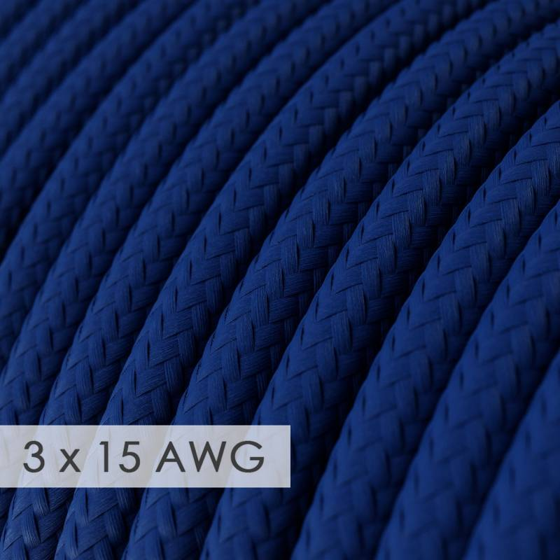 Extension Cord - Round Blue Rayon RM12 - 15/3 AWG