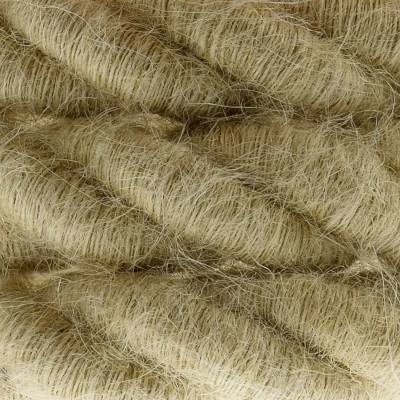 2XL Rope electrical wire 18/3 AWG wire inside. Rough Jute Fabric. 24mm.