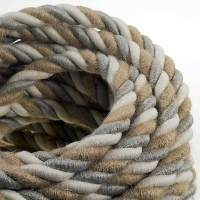 Nautical Rope Electric Wire Cables - Rope with electric wire inside