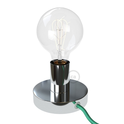 The Posaluce | Chrome Metal Table Lamp