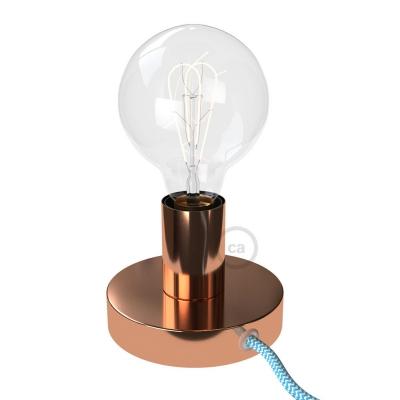 The Posaluce   Copper Metal Table Lamp