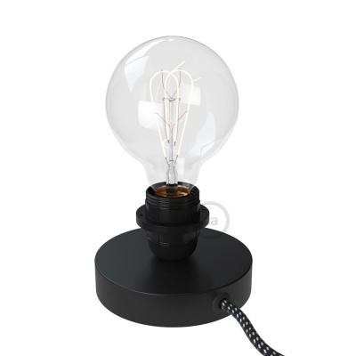 The Posaluce   Black Metal Table Lamp for Lampshade