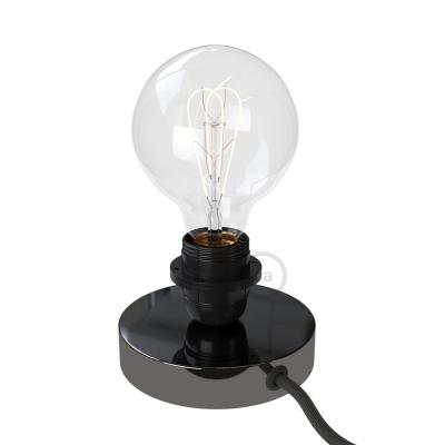 The Posaluce | Black Pearl Metal Table Lamp for Lampshade