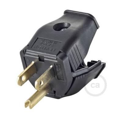 Black 3-prong Plug