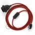 SnakeBis plug in pendant light with on/off switch and cloth wire - RT94 Red & Black Tracer