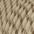 Single Pendant, suspended lamp with Natural & Brown Linen Stripe textile cable RD53