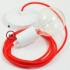 Single Pendant, suspended lamp with Neon Orange textile cable RF15