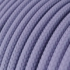 Single Pendant, suspended lamp with Lilac Rayon textile cable RM07