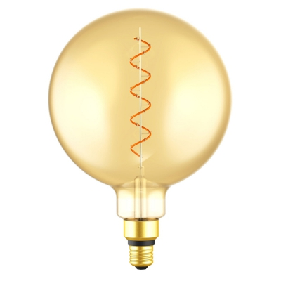 Giant Light Bulbs - G63 Globe Shape - AmberGlass