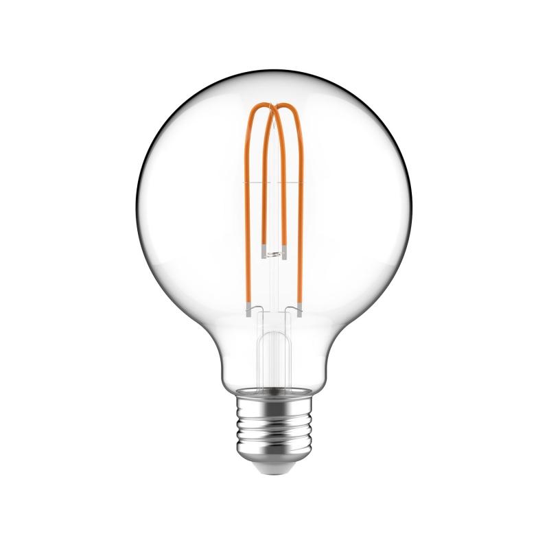 Large Light Bulbs - G30 Globe Shape - Clear Glass