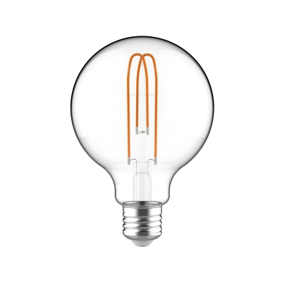 Large Light Bulbs - G95 Globe Shape - Clear Glass