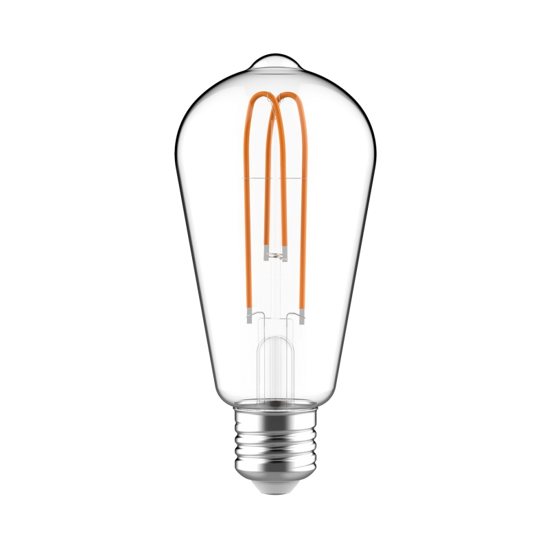 Classic Edison Bulb - ST64 Looping Filament - Clear Glass