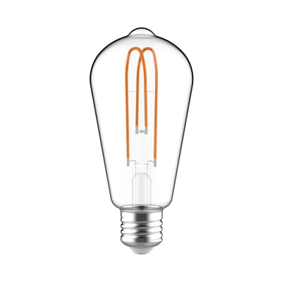 Classic Edison Bulb - ST21 (ST64) Looping Filament - Clear Glass