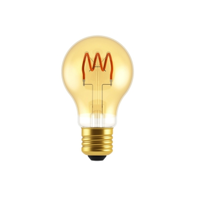 Classic Elegance Bulb - A19 (A60) Looping Filament - Amber Glass
