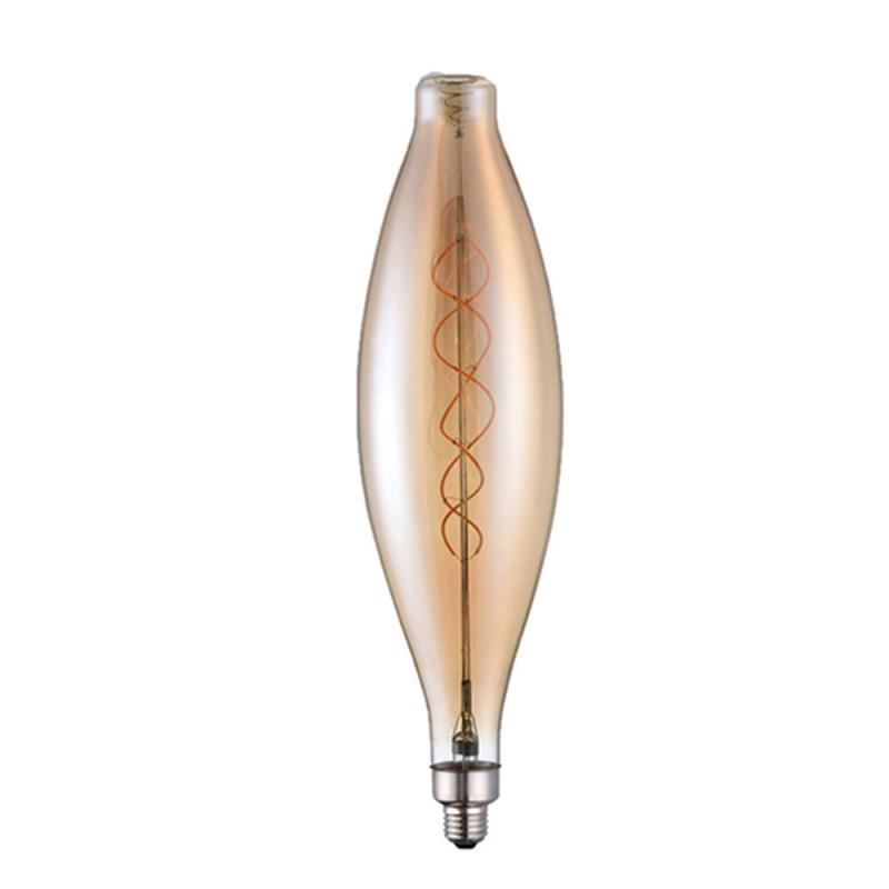 Giant Light Bulbs - Bulged Tubular CT120 - Amber Glass