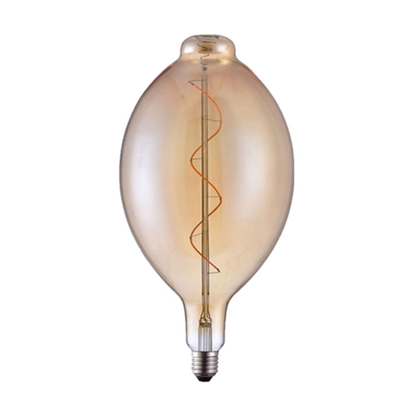 Giant Light Bulbs - Extra Bulged Tubular BT180 - Amber Glass