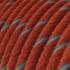 Round Electric Vertigo Cable covered by Brick and Light Blue Cotton ERC36