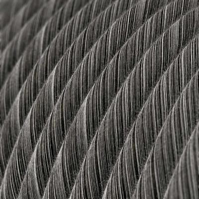 Round Electric Vertigo Cable covered by Black Mélange Cotton ERC37