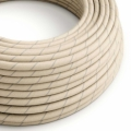 Round Electric Vertigo Cable covered by Oat Cotton and Linen ERD23