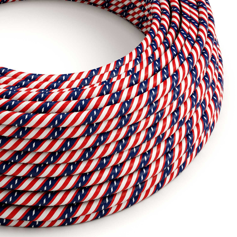 Round Electric Vertigo HD Cable covered by Washington fabric ERM45