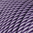 Round Electric Vertigo HD Cable covered by Lilac and Dark Purple fabric ERM52