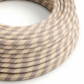Round Electric Vertigo Cable covered by Cotton and Linen With Copper Thread ERR05