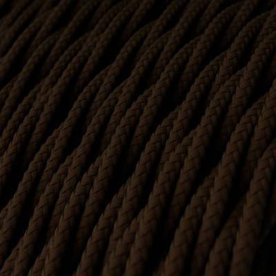 Brown Rayon covered Twisted electric cable 2x18 AWG - TM13