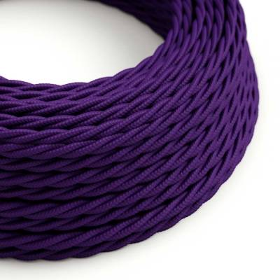 Violet Rayon covered Twisted electric cable 2x18 AWG - TM14