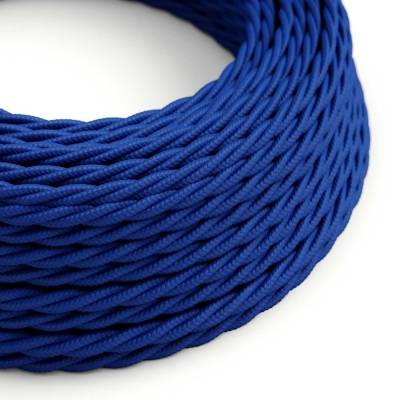 Blue Rayon covered Twisted electric cable 2x18 AWG - TM12