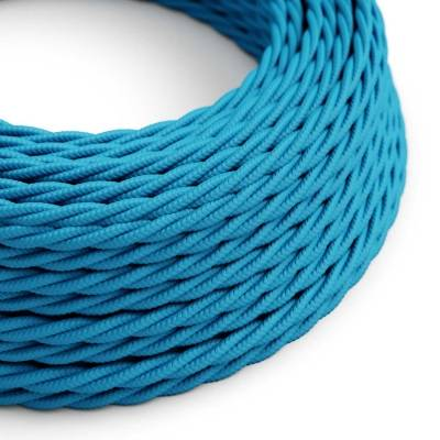 Light Blue Rayon covered Twisted electric cable 2x18 AWG - TM11