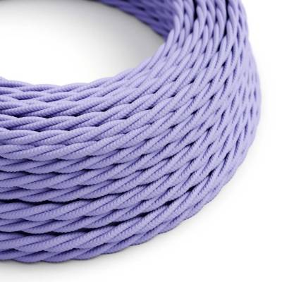 Lilac Rayon covered Twisted electric cable 2x18 AWG - TM07