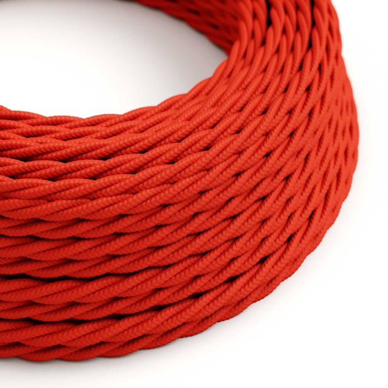 Red Rayon covered Twisted electric cable 2x18 AWG - TM09