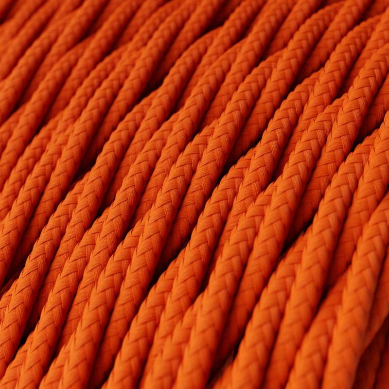 Orange Rayon covered Twisted electric cable 2x18 AWG - TM15
