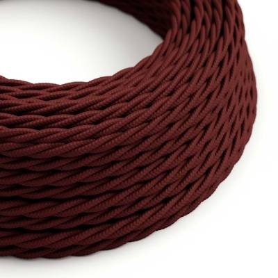 Burgundy Rayon covered Twisted electric cable 2x18 AWG - TM19