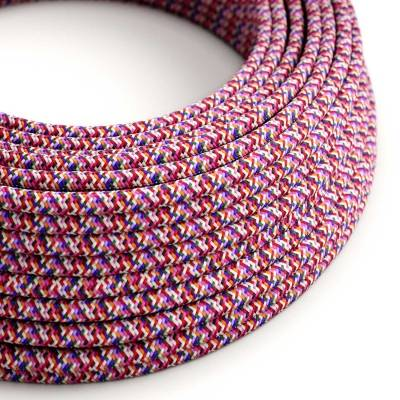 Pixel Pink covered Round electric cable 3x18 AWG - RX00