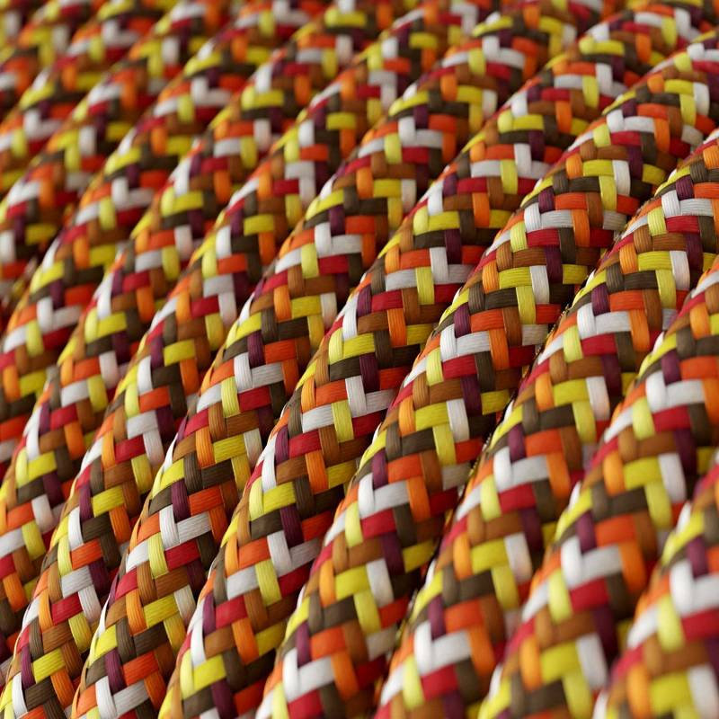 Pixel Orange covered Round electric cable 3x18 AWG - RX01