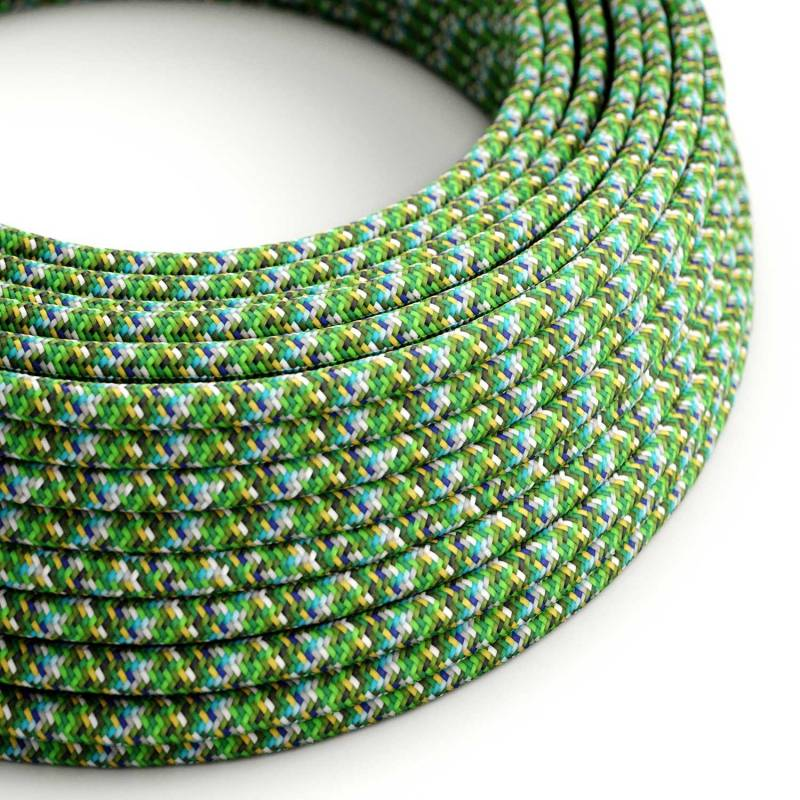 Pixel Green covered Round electric cable 3x18 AWG - RX05