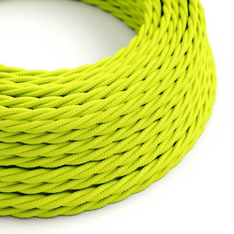 Neon Yellow covered Twisted electric cable 2x18 AWG - TF10