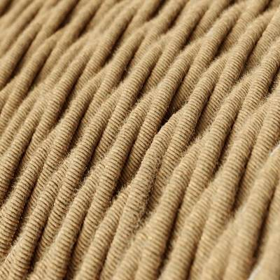 Jute covered Twisted electric cable 2x18 AWG - TN06