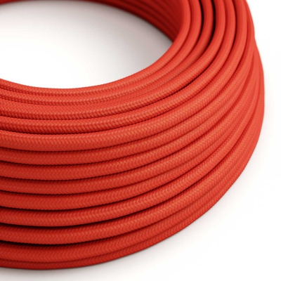 Red Rayon covered Round electric cable - RM09