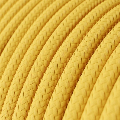 Yellow Rayon covered Round electric cable - RM10