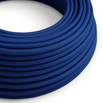 Blue Rayon covered Round electric cable - RM12