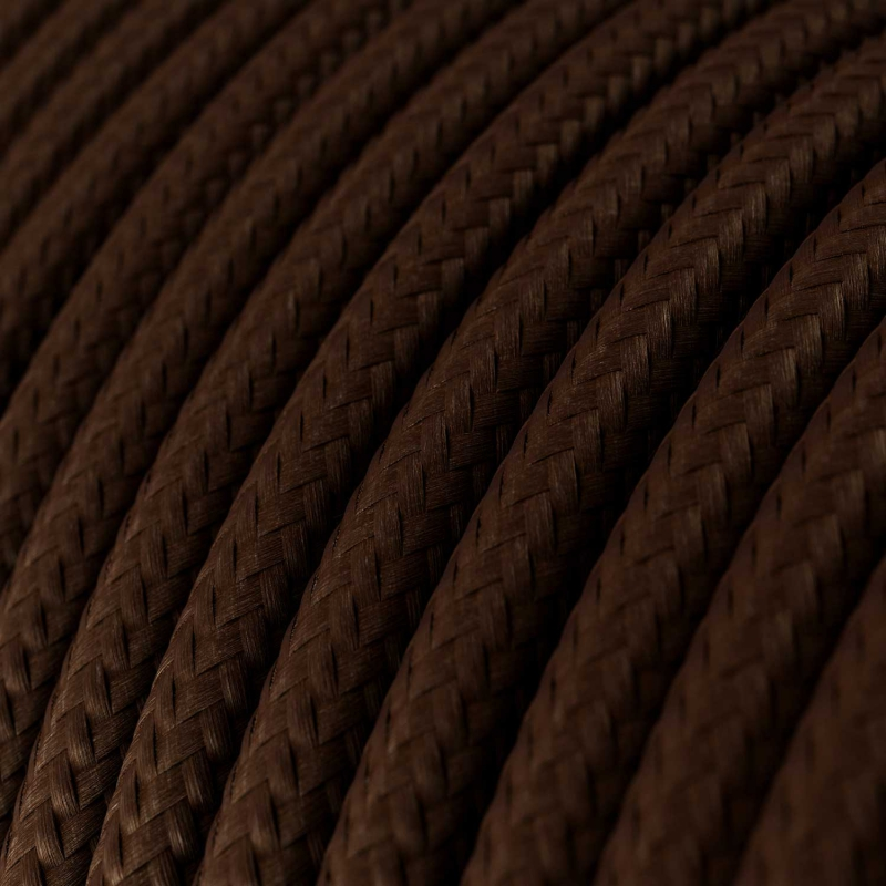 Brown Rayon covered Round electric cable - RM13