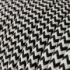 Black & White Chevron covered Round electric cable - RZ04