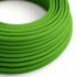 Lime Green Rayon covered Round electric cable - RM18