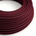 Burgundy Rayon covered Round electric cable - RM19