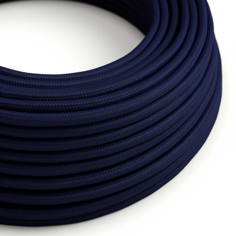 Dark Blue Rayon covered Round electric cable - RM20